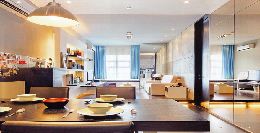 sharp-intergated-dining-room-in-small-apartment